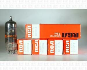 RCA 12HG7 12GN7A Vacuum Tubes Made In USA NOS Lot Of 5 +Box