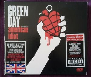 Green Day - American Idiot (2005) CD + DVD Pack.