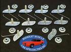 Ford 58-1 14 Body Fender Door Quarter Trim Moulding Molding Clips Nuts 10p M