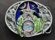 New ListingWizard Merlin Mythical Magic Crystal Ball Dragon Fantasy Owl Belt Buckle Usa