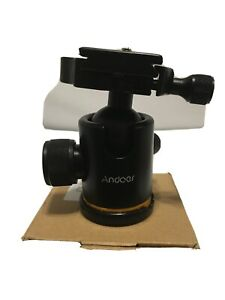 360° Swivel Camera Tripod Ball Head with Quick Release Plate Mount Holder W4M5