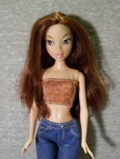 F6  Gorgeous My Scene Barbie, Auburn Red Hair, Brown Eyes, Cute Outfit w/Boots