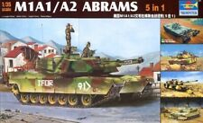 Trumpeter 1:35 M1A1:A2 Abrams Tank 5 in 1 Plastic Model Kit 1535