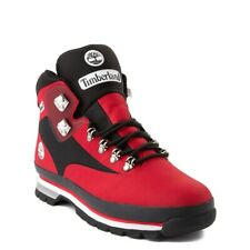Brand NEW Mens Timberland Euro Hiker Jacquard Athletic Boots Red Black