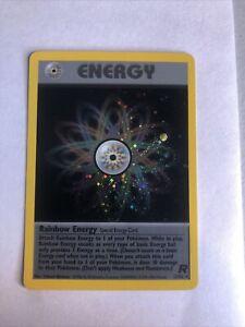 English Pokémon TCG Team Rocket Unl. Holo Rare Rainbow Energy 17/82 Card - NM+