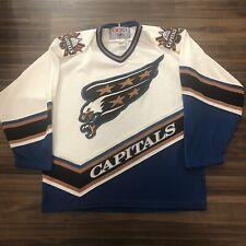 CCM Washington Capitals NHL Hockey Jersey Screaming Eagle Vintage White Large L
