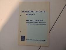 - Sachs Stamo 100 Ersatzteile Liste Teile Katalog Reparaturanleitung -
