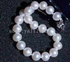 """charming 9-10mm AAA white south sea round pearl bracelet 7.5-8"""""""
