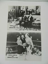 City Lights Charlie Chaplin French Lobby Cards Vintage Set of 4 Boxing