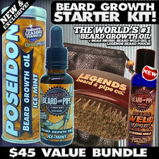 $45+ VALUE!! BEARD GROWTH & GROOMING Kit! POSEIDON™, BEARD WELD™, BRUSH & POUCH!