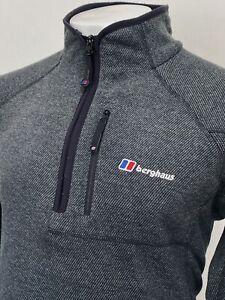 Berghaus | Spectrum Optic Half Zip Fleece In Grey L|XL ~ Camping Outdoors 90's