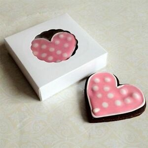 Small White Cookie Box for 1-2 Cookies - ($0.95pc x 25 counts)