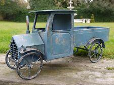 VINTAGE RUSTICO ANTICO Blu per Auto Camion Furgone in Metallo Decorativa Decorazione Giardino Regalo