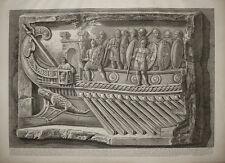 Piranesi antico fregio di marmo stampa antica old print kupferstich 1778 gravure