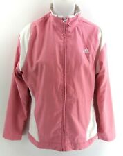 ADIDAS Womens Tracksuit Top Track Jacket 10 Pink White Polyester