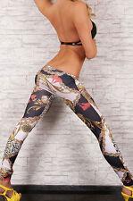 Tattoo Style Denim Print Jeggings Night Club Designer Fashion Leggings