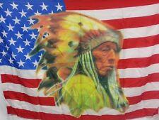 BELLISSIMA BANDIERA INDIANO + USA STATI UNITI APACHE NATIVI AMERICANI LUPO SIOUX