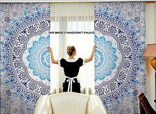 Indisch Ombre Mandala Hippie Tapisserie Wandvorhänge Fenstervorhänge Raumteiler