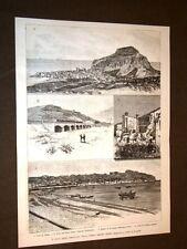 Treni e ferrovie nel 1887 Tronco ferroviario Cefalù - Termini Imerese Sicilia