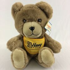Vintage 1987 National Honey Board Plush Teddy Bear Collectible Stuffed Animal