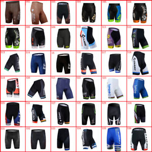 Mens Cycling Shorts Gel Pad Team Bike Trousers Summer Racing Bicycle Outfits