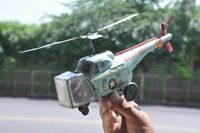 Vintage TN Trademark 1517 U.S Air Force Litho Friction Helicopter Tin Toy,Japan