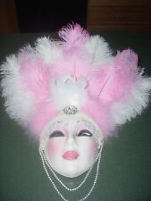 CLAY ART CERAMIC MASK...SHOWGIRL PROTOTYPE...ONE OF A KIND!!