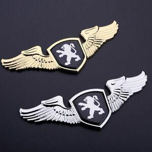 1x 3D Auto Front Cover Zinklegierung Metall Auto Emblem Aufkleber für Peugeot