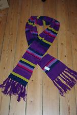 Primark Klassischer warmer Schal mehrfarbig mit Fransen Acryl 266 cm Neu
