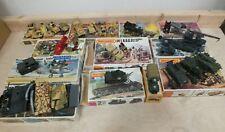 Job lot of 12 vintage Matchbox / Airfix model WWII military vehicles kits (Woo)