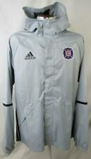 Chicago Fire FC Mens Large Full Zip Hooded Windbreaker Jacket CHF 4