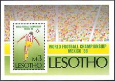 Lesotho 1986 Football World Cup Championships/Soccer/WC/Sports 1v m/s (s2654)