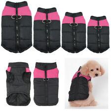 Pet Dog Coat Puppy Warm Jacket Vest Abbigliamento Apparel Harness Pink M