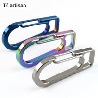 Tiartisan Titanium TC4 Carabiner Screwdriver Bottle Opener Hook Keychain EDC