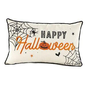 Halloween Throw Pillow - Rectangular Accent Lumbar Cushion - Happy Halloween