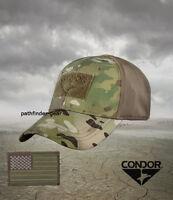Multicam Flexfit Flex Tactical Operator Cap Hat Small w/ US Flag Morale Patch