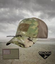 Multicam Flexfit Flex Tactical Operator cap hat L/XL w/ US Flag Morale Patch