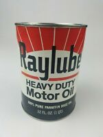 Vintage Raylube Motor Oil Can Reproduction Heavy Duty