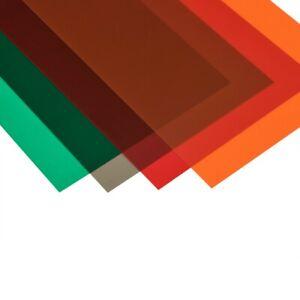 Amati B3604/13 Feuille PVC Transparent Rouge 194x320mm - 0,1mm Modélisme