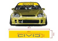 Honda Civic Windshield Banner Decal and visor Strip 55 x 10 inches