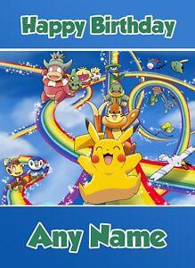 Pokemon- Personalised Birthday Card Son Grandson Nephew