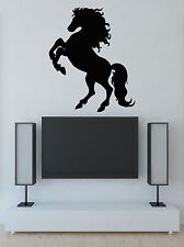 Vinyl Decal Wall Sticker Thoroughbred Horse Galloping Mane (m641)