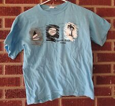 "Vintage 80s Daytona Beach T-Shirt Small Blue (Chest: 16.25"") Sport-One"