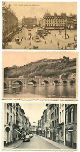Postcard H03 Liege Namur Bridge Castle Charleroi 1930/75 Belgium (3 pcs)