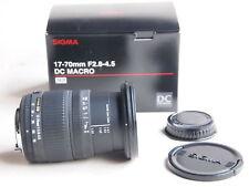 Pentax Fit Sigma DC MACRO 17 - 70 mm F2.8-4.5 Lens + tappi + Scatola