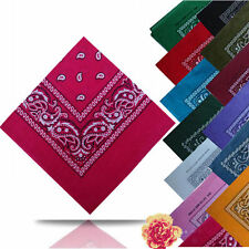 New Fashion Women Square Paisley Bandanas Head Band Neck Wrap Scarf Wristband