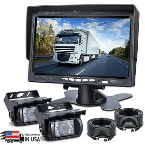 7'' Monitor Rear View Backup Camera Parking System Night Vision For Rv Truck BUS