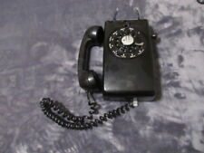 1955 Bell System Western Electric wall phone rotary dial vintage RARE Black
