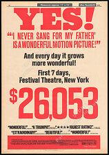 I NEVER SANG FOR MY FATHER__Original 1970 Trade AD promo/ poster__MELVYN DOUGLAS