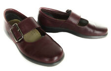Hotter Shoes 7 US 5 UK Cloud Comfort Burgundy Leather Buckle Mary Jane England